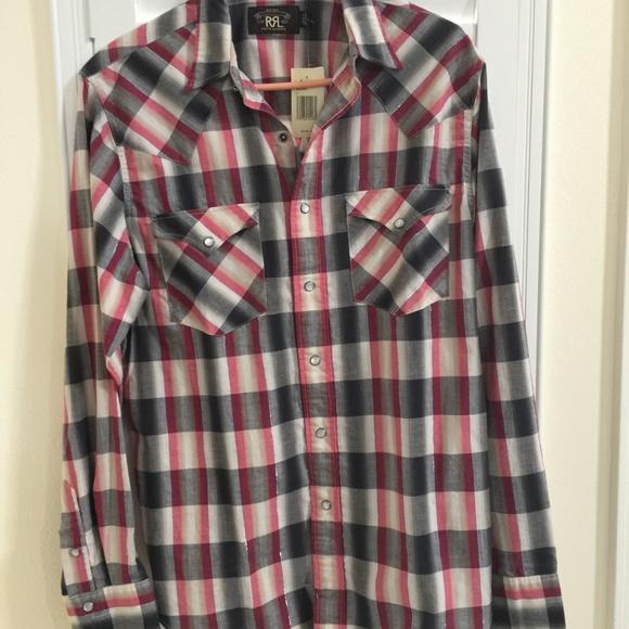 1f13e11d Ralph Lauren Shirts | Double Rl Mens Plaid Shirt Size L New | Poshmark